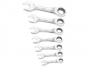 Britool Stubby Ratchet Spanner Set 7 Piece Metric