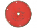 Faithfull Diamond Tile Blade Red Continuous Rim 200mm x 25.4mm